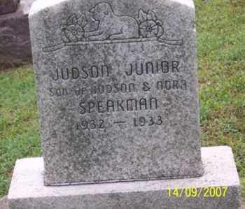 SPEAKMAN, JUDSON JUNIOR - Ross County, Ohio | JUDSON JUNIOR SPEAKMAN - Ohio Gravestone Photos