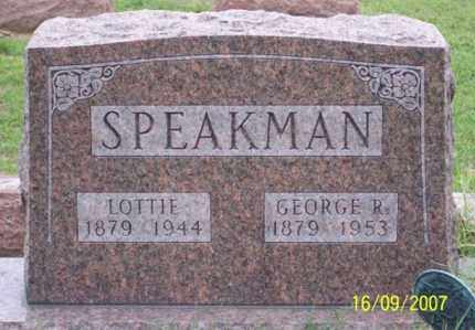 SPEAKMAN, GEORGE R. - Ross County, Ohio | GEORGE R. SPEAKMAN - Ohio Gravestone Photos