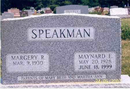 SPEAKMAN, MAYNARD E. - Ross County, Ohio | MAYNARD E. SPEAKMAN - Ohio Gravestone Photos