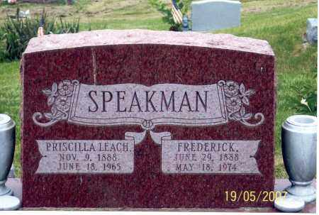 LEACH SPEAKMAN, PRISCILLA - Ross County, Ohio | PRISCILLA LEACH SPEAKMAN - Ohio Gravestone Photos