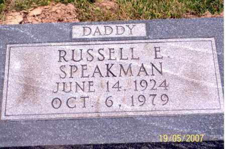 SPEAKMAN, RUSSELL E. - Ross County, Ohio | RUSSELL E. SPEAKMAN - Ohio Gravestone Photos