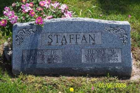 STAFFAN, HENRY M. - Ross County, Ohio | HENRY M. STAFFAN - Ohio Gravestone Photos
