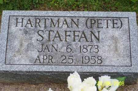 "STAFFAN, HARTMAN ""PETE"" - Ross County, Ohio 