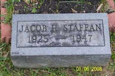 STAFFAN, JACOB H. - Ross County, Ohio | JACOB H. STAFFAN - Ohio Gravestone Photos