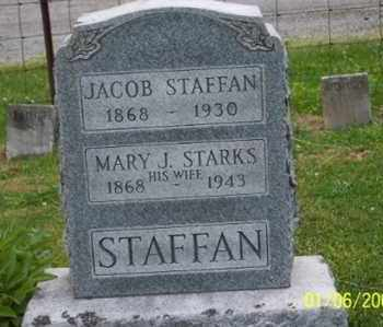 STARKS STAFFAN, MARY J. - Ross County, Ohio | MARY J. STARKS STAFFAN - Ohio Gravestone Photos