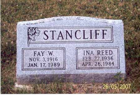 REED STANCLIFF, INA - Ross County, Ohio | INA REED STANCLIFF - Ohio Gravestone Photos