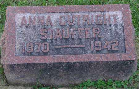 CUTRIGHT STAUFFER, ANNA - Ross County, Ohio | ANNA CUTRIGHT STAUFFER - Ohio Gravestone Photos