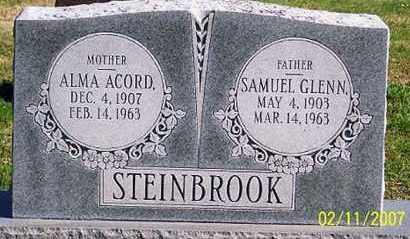 ACORD STEINBROOK, ALMA - Ross County, Ohio | ALMA ACORD STEINBROOK - Ohio Gravestone Photos