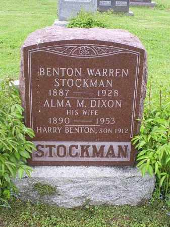 STOCKMAN, BENTON WARREN - Ross County, Ohio | BENTON WARREN STOCKMAN - Ohio Gravestone Photos