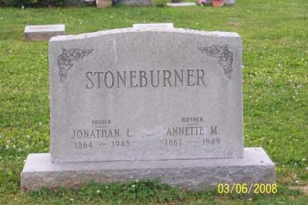 STONEBURNER, JONATHAN L. - Ross County, Ohio | JONATHAN L. STONEBURNER - Ohio Gravestone Photos