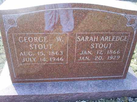 STOUT, GEORGE W. - Ross County, Ohio | GEORGE W. STOUT - Ohio Gravestone Photos