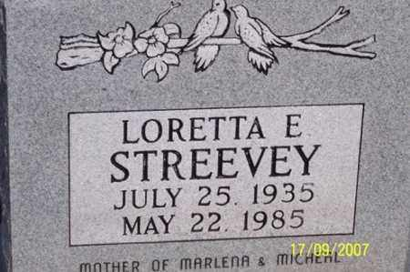STREEVEY, LORETTA E. - Ross County, Ohio | LORETTA E. STREEVEY - Ohio Gravestone Photos