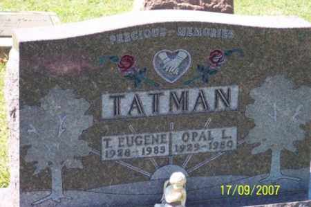 TATMAN, T. EUGENE - Ross County, Ohio | T. EUGENE TATMAN - Ohio Gravestone Photos