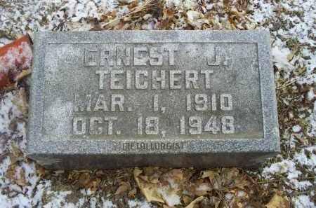 TEICHERT, ERNEST J. - Ross County, Ohio | ERNEST J. TEICHERT - Ohio Gravestone Photos