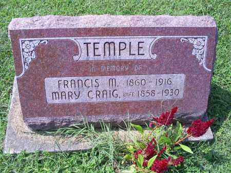 TEMPLE, FRANCIS M. - Ross County, Ohio | FRANCIS M. TEMPLE - Ohio Gravestone Photos