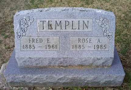 TEMPLIN, FRED E. - Ross County, Ohio | FRED E. TEMPLIN - Ohio Gravestone Photos