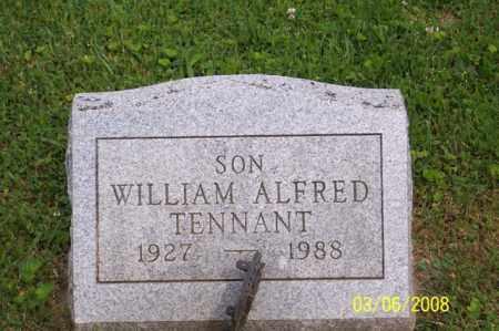 TENNANT, WILLIAM ALFRED - Ross County, Ohio   WILLIAM ALFRED TENNANT - Ohio Gravestone Photos