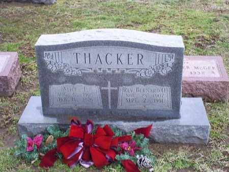 THACKER, REV. BERNARD O. - Ross County, Ohio | REV. BERNARD O. THACKER - Ohio Gravestone Photos