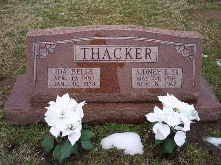 THACKER, SIDNEY. E. SR. - Ross County, Ohio | SIDNEY. E. SR. THACKER - Ohio Gravestone Photos