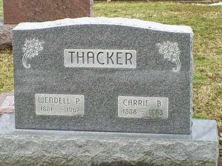 THACKER, CARRIE B. - Ross County, Ohio | CARRIE B. THACKER - Ohio Gravestone Photos