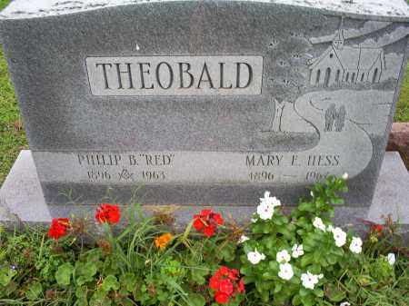 HESS THEOBALD, MARY E. - Ross County, Ohio | MARY E. HESS THEOBALD - Ohio Gravestone Photos