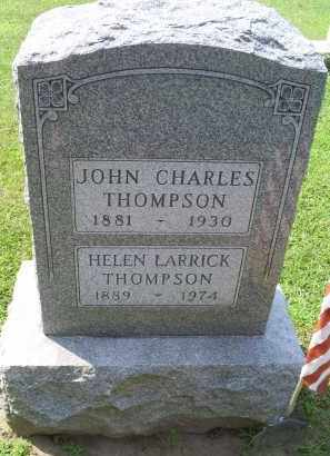 THOMPSON, JOHN CHARLES - Ross County, Ohio | JOHN CHARLES THOMPSON - Ohio Gravestone Photos