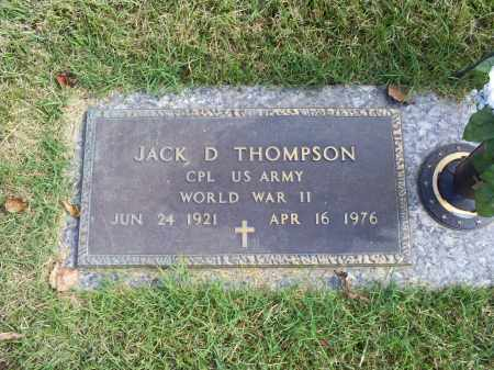 THOMPSON, JACK D. - Ross County, Ohio | JACK D. THOMPSON - Ohio Gravestone Photos