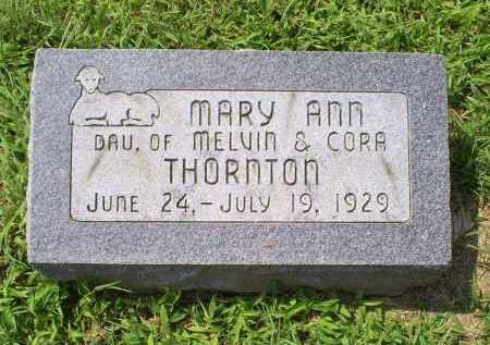 THORNTON, MARY ANN - Ross County, Ohio | MARY ANN THORNTON - Ohio Gravestone Photos