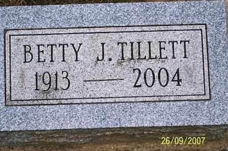 TILLETT, BETTY J. - Ross County, Ohio | BETTY J. TILLETT - Ohio Gravestone Photos