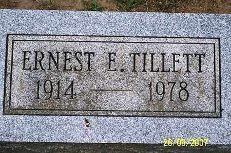 TILLETT, ERNEST E. - Ross County, Ohio | ERNEST E. TILLETT - Ohio Gravestone Photos
