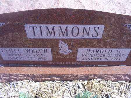 TIMMONS, ETHEL - Ross County, Ohio | ETHEL TIMMONS - Ohio Gravestone Photos