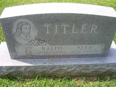 TITLER, RALPH - Ross County, Ohio | RALPH TITLER - Ohio Gravestone Photos