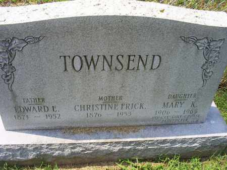TOWNSEND, EDWARD E. - Ross County, Ohio | EDWARD E. TOWNSEND - Ohio Gravestone Photos