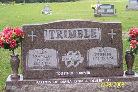 TRIMBLE, LEON  FRANKLIN - Ross County, Ohio | LEON  FRANKLIN TRIMBLE - Ohio Gravestone Photos