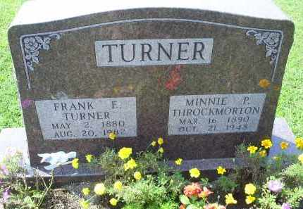 THROCKMORTON TURNER, MINNIE P. - Ross County, Ohio | MINNIE P. THROCKMORTON TURNER - Ohio Gravestone Photos