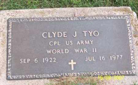 TYO, CLYDE J. - Ross County, Ohio | CLYDE J. TYO - Ohio Gravestone Photos