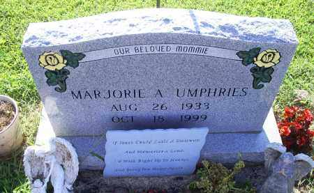 UMPHRIES, MARJORIE A. - Ross County, Ohio | MARJORIE A. UMPHRIES - Ohio Gravestone Photos