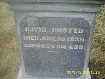UMSTED, DAVID - Ross County, Ohio | DAVID UMSTED - Ohio Gravestone Photos