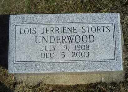 UNDERWOOD, LOIS JERRIENE - Ross County, Ohio | LOIS JERRIENE UNDERWOOD - Ohio Gravestone Photos