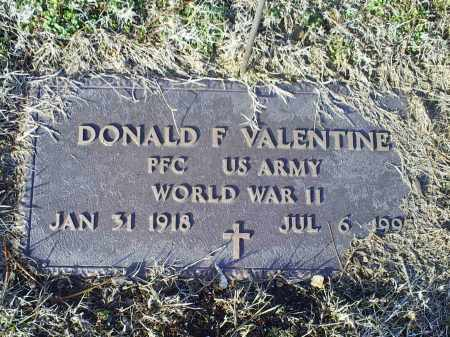 VALENTINE, DONALD F. - Ross County, Ohio | DONALD F. VALENTINE - Ohio Gravestone Photos
