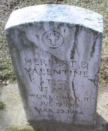 VALENTINE, HERBERT E. - Ross County, Ohio | HERBERT E. VALENTINE - Ohio Gravestone Photos