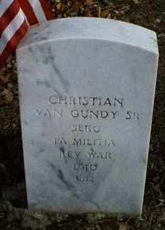 VAN GUNDY, CHRISTIAN SR. - Ross County, Ohio | CHRISTIAN SR. VAN GUNDY - Ohio Gravestone Photos