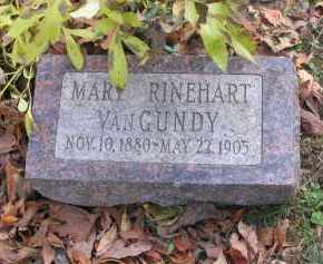 VAN GUNDY, MARY - Ross County, Ohio | MARY VAN GUNDY - Ohio Gravestone Photos