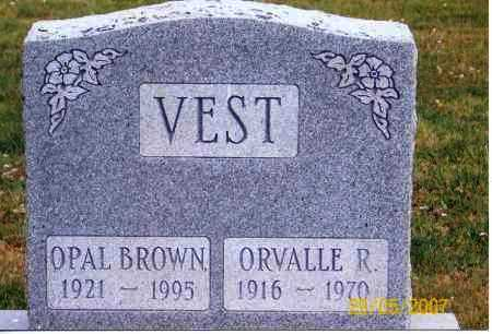BROWN VEST, OPAL - Ross County, Ohio | OPAL BROWN VEST - Ohio Gravestone Photos