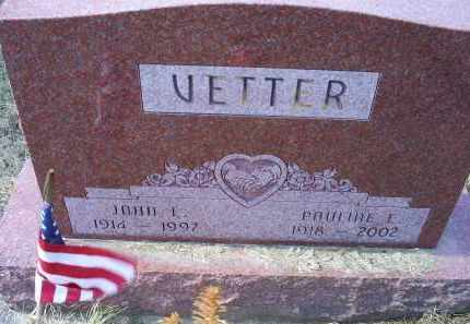 VETTER, JOHN L. - Ross County, Ohio | JOHN L. VETTER - Ohio Gravestone Photos