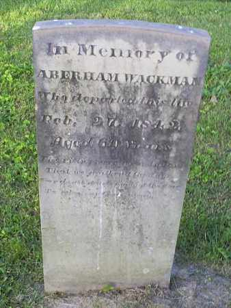 WACKMAN, ABERHAM - Ross County, Ohio | ABERHAM WACKMAN - Ohio Gravestone Photos