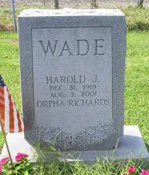 WADE, HAROLD J. - Ross County, Ohio | HAROLD J. WADE - Ohio Gravestone Photos