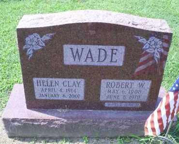 CLAY WADE, HELEN - Ross County, Ohio | HELEN CLAY WADE - Ohio Gravestone Photos