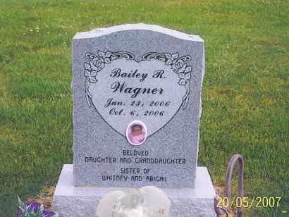 WAGNER, BAILEY R. - Ross County, Ohio | BAILEY R. WAGNER - Ohio Gravestone Photos
