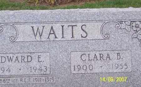 WAITS, EDWARD E. - Ross County, Ohio | EDWARD E. WAITS - Ohio Gravestone Photos